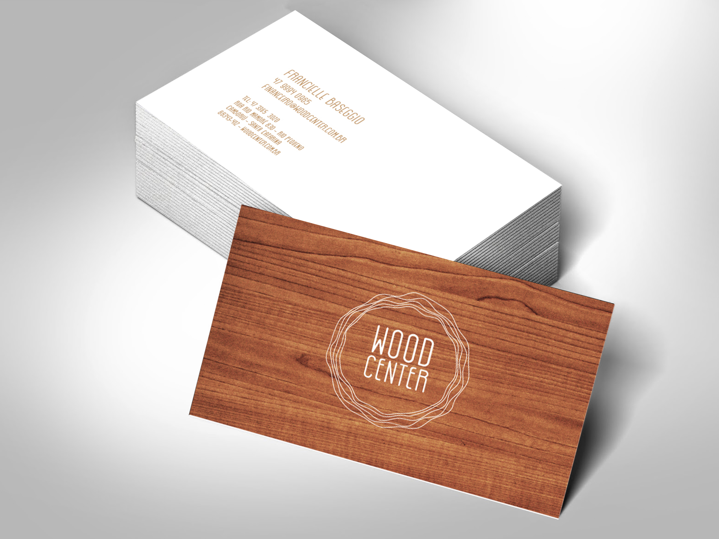 Inteligencia Marketing - WOOD CENTER – NOVA IDENTIDADE - Cartao-de-visitas1