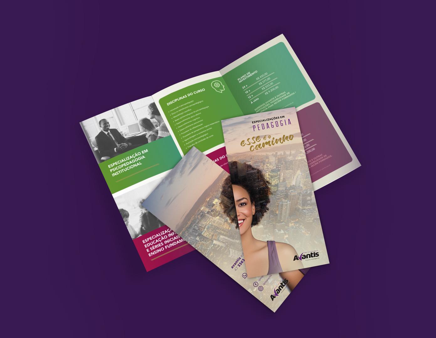 Inteligencia Marketing - Campanha Pós-Graduação Avantis 2017 - folder