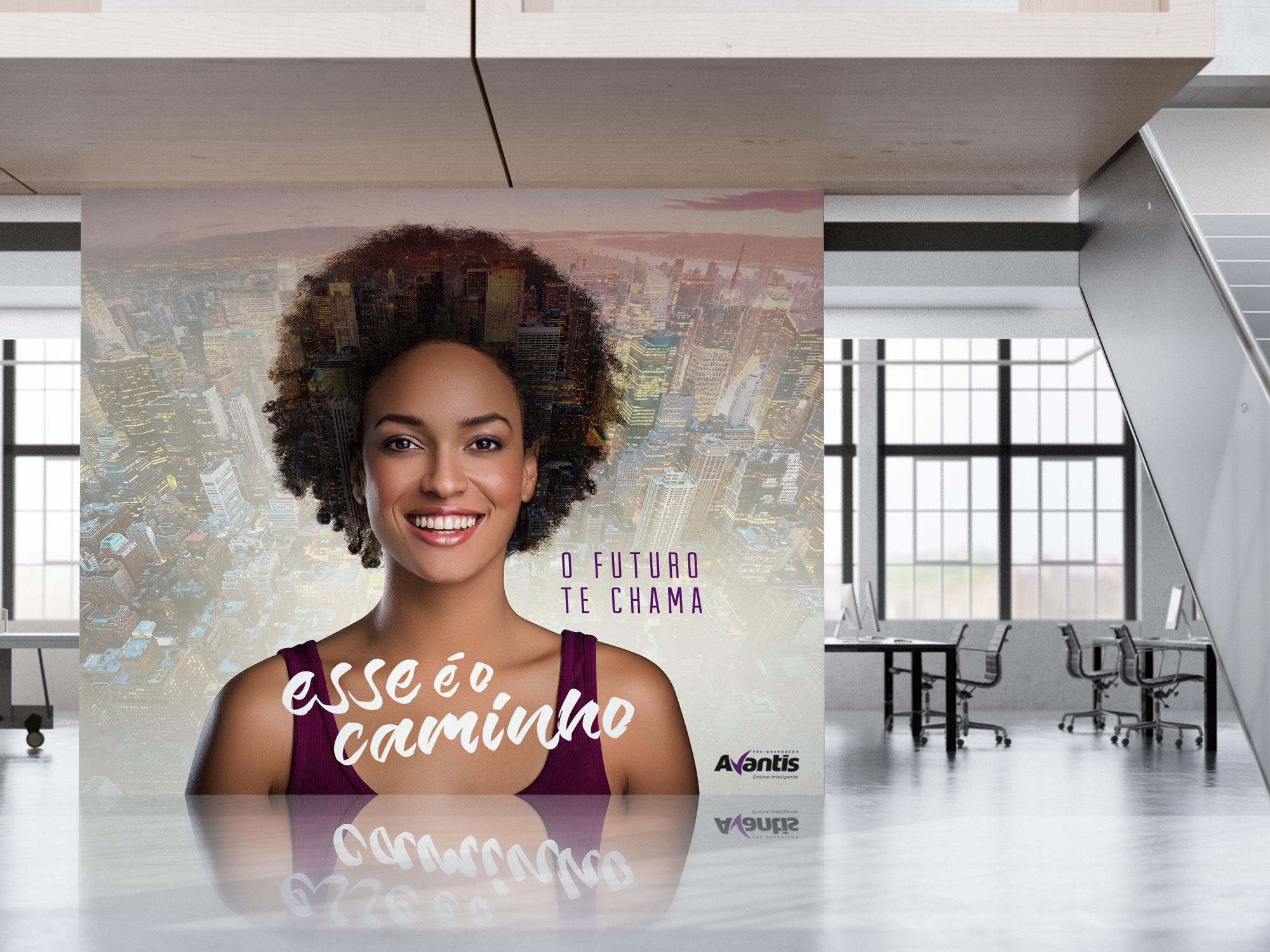 Inteligencia Marketing - Campanha Pós-Graduação Avantis 2017 - Parede