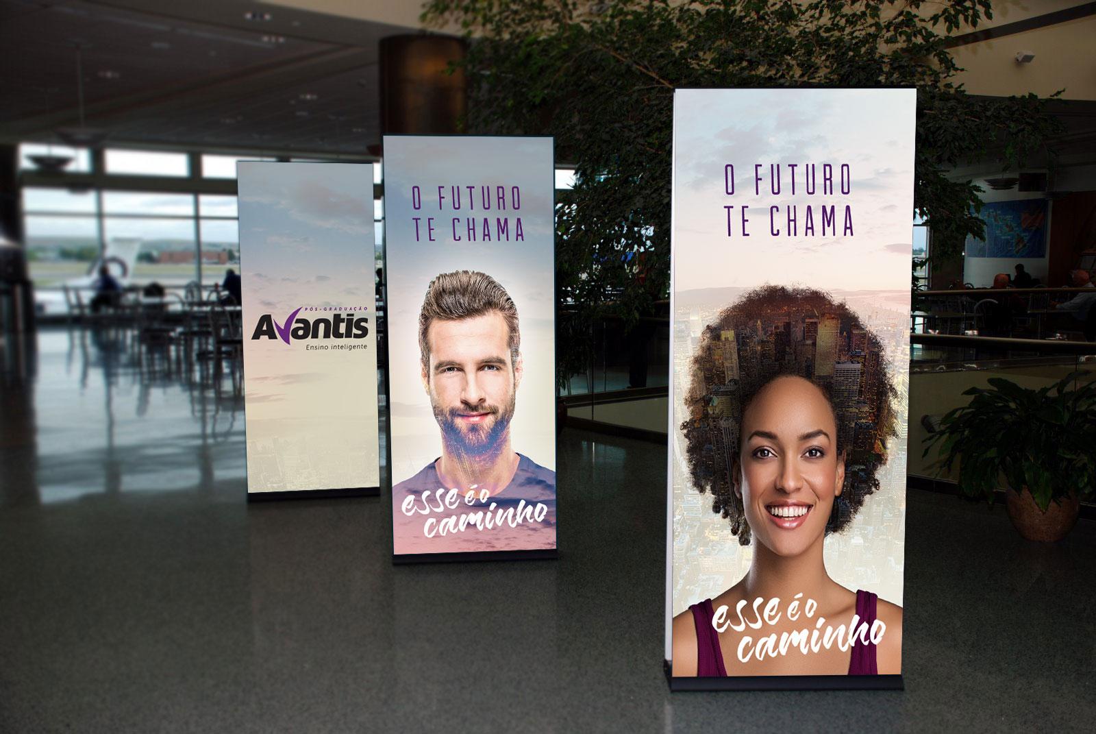 Inteligencia Marketing - Campanha Pós-Graduação Avantis 2017 - shopping